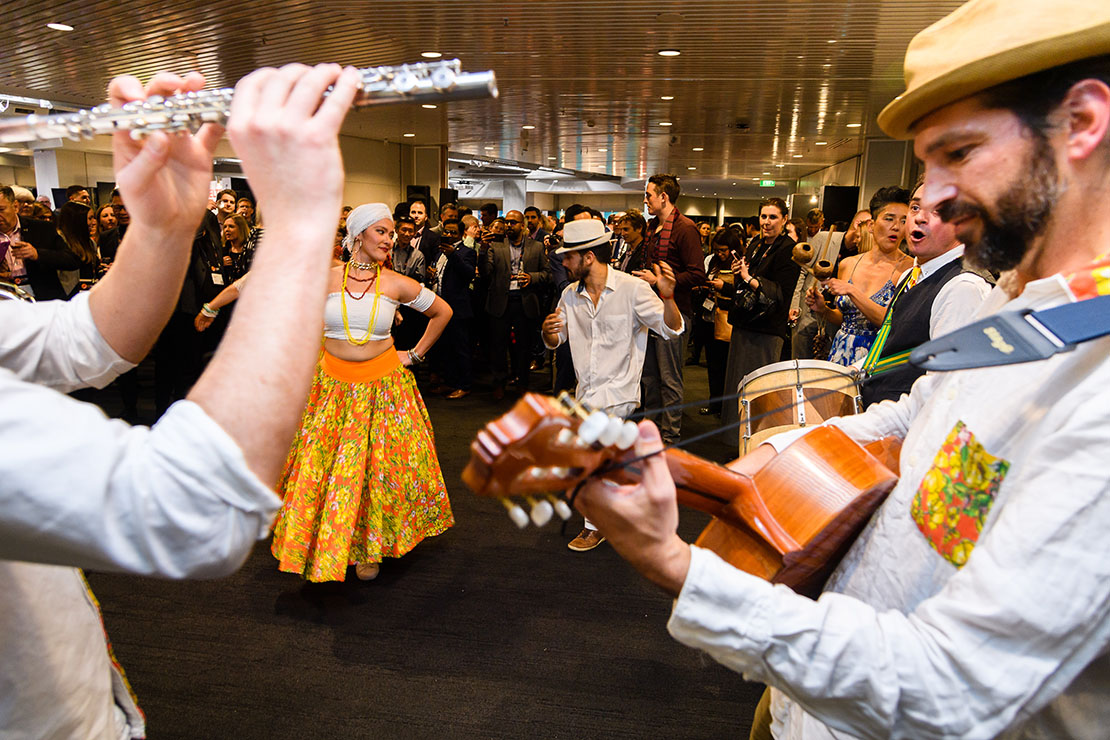 Carnival at the NZIEC Conference, where Brazil was Country of Honour