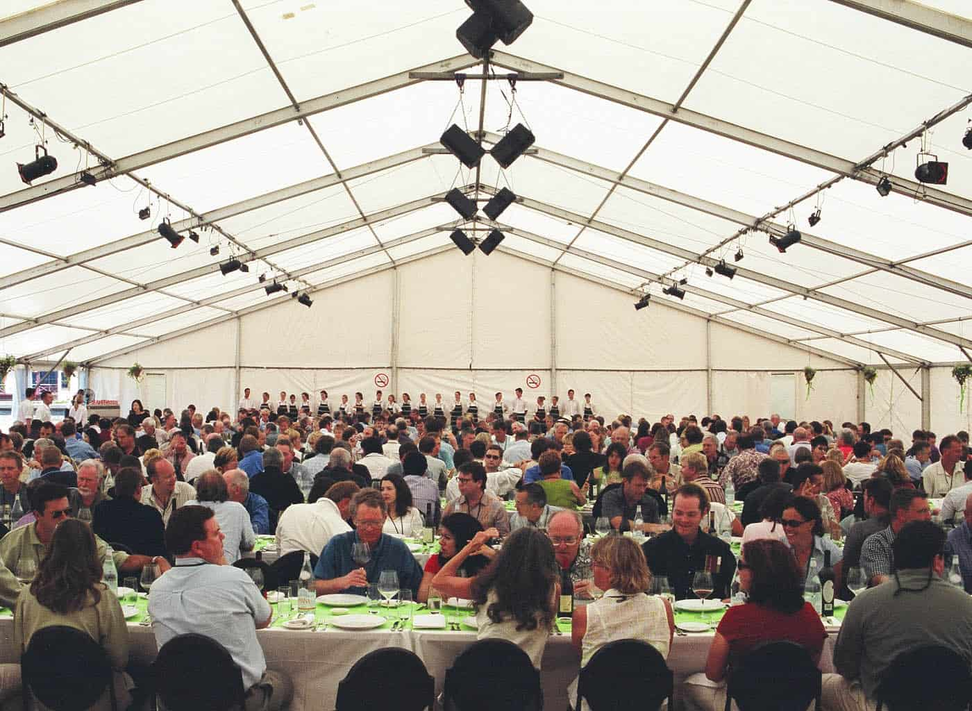 Grand tent for a grand lunch