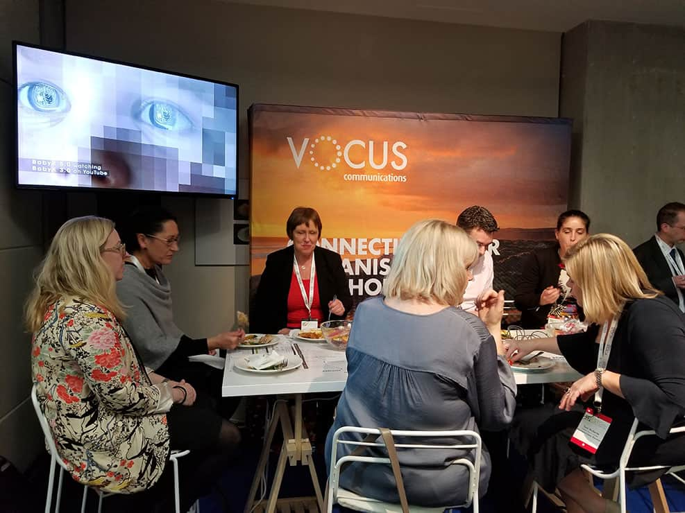 Vocus Communications In-Event Activation - Charging table plus a collaboration with Soul Machines